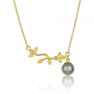 Olivia Black Pearl Necklace