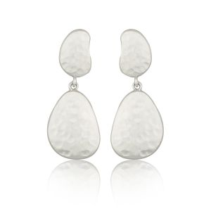 Pebble Double Drop Earrings
