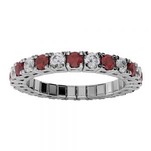 Ruby and Diamond Spryngs Ring