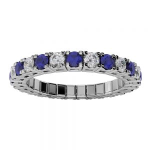 Sapphire and Diamond Spryngs Ring