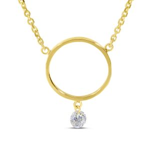Dashing Diamonds Open Circle Necklace