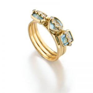 Aquamarine Stack Ring