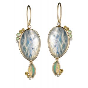 Convertible Moonstone Earrings