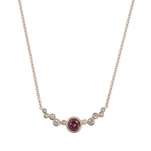 Red Tourmaline Necklace