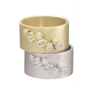 Gold Wide Cluster Ring