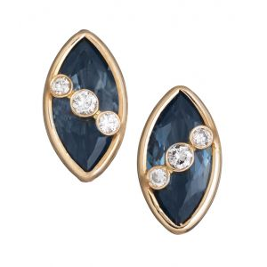 Blue Topaz Stud Earrings
