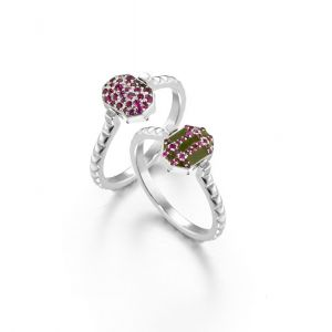 Enamel and Ruby Ring