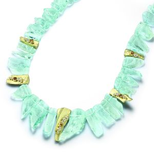 Aquamarine and Diamond Choker