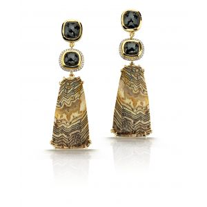 Fossilized Sequoia Earrings