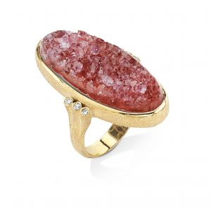 Drusy Quartz Ring