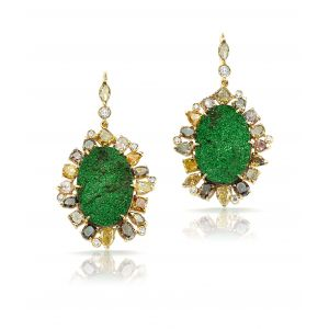 Uvarovite Earrings