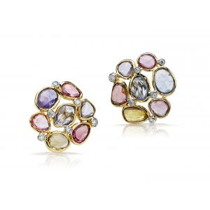 Mutilcolor Diamond Earrings