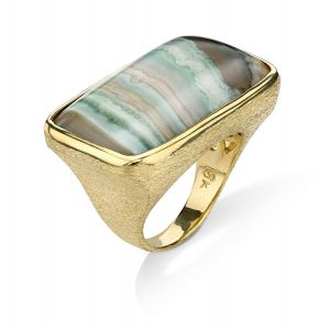 Saturn Chalcedony Ring