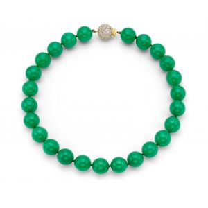 Chrysoprase Bead Necklace