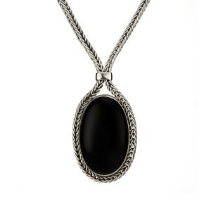 Whitby Jet Foxtail Pendant