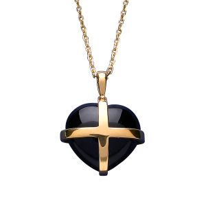 Whitby Jet Heritage Cross Heart