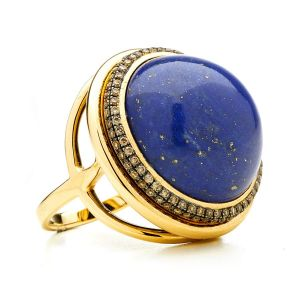 Lapis Lazuli and Diamond Ring