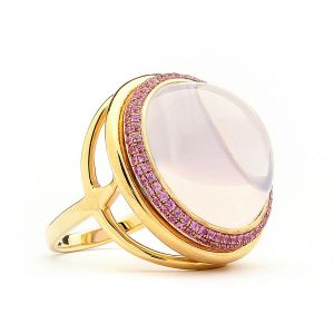 Lavender Moon Quartz Ring