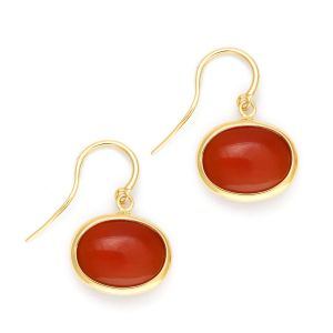 Orange Chalcedony Earrings
