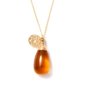 Citrine Drop Pendant