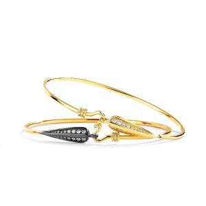 Black and Gold Stackable Bangles