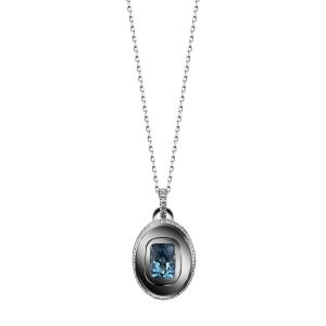 Oval Birthstone Charm Necklace