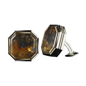 Quartz & Diamond Cufflinks