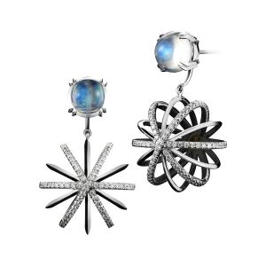 Snowflake Diamond Earrrings