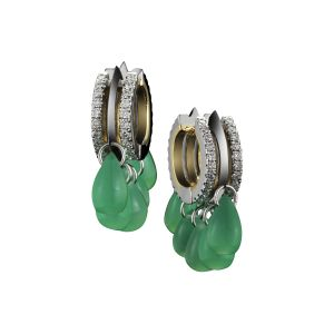 Green Chrysoprase Earrings