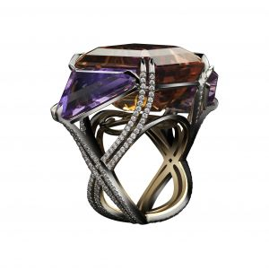 Bi-Color Ametrine Ring