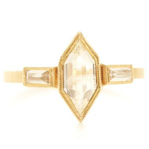 Blockette Hexagon Diamond Ring