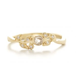 Vine Diamond Leaf Ring
