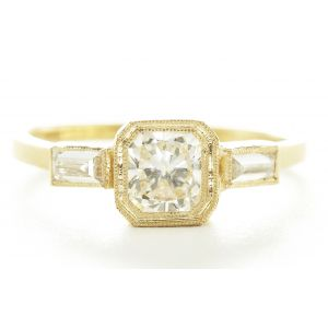 Blockette Three Diamond Ring