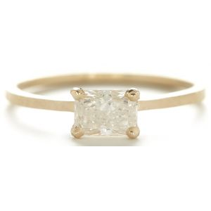 Stacking Radiant Horizontal Diamond Ring
