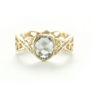 Relic Golden Gate White Sapphire Diamond Ring