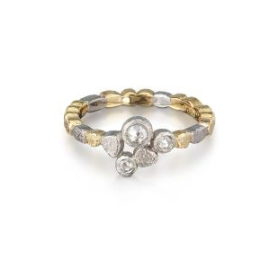 Skinny Ring Diamond Trio