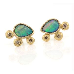 Opal Pear Earrings