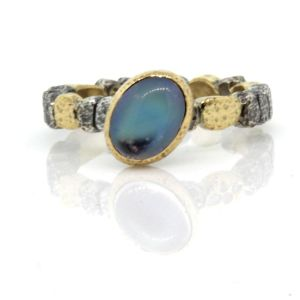 Moonstone Pebbles Ring