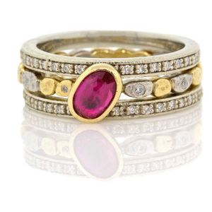 Skinny Ring Ruby Stack