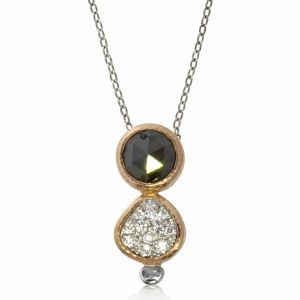 Black Diamond Duo Pendant