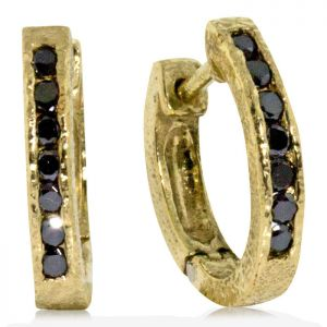Gold Hinged Hoop Earrings