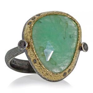 Emerald Pebble Ring
