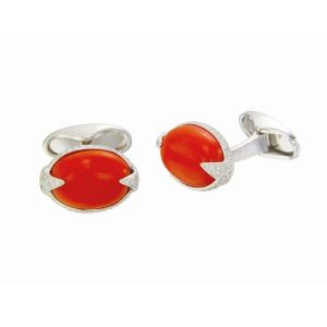 Coral & Diamond Cufflinks
