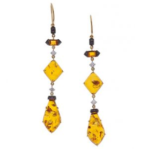 Amber & Onyx Earrings