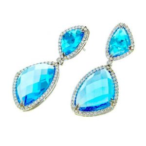 Topaz Diamond Earrings