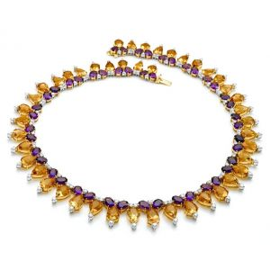 Citrine & Amethyst Necklace