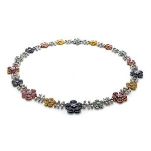 Multicolor Diamond Necklace