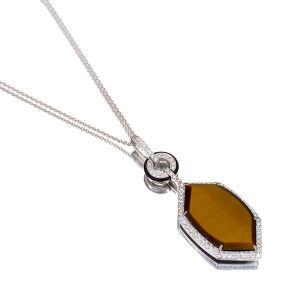 Tigers Eye & Onyx Pendant