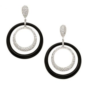 Onyx & Diamond Earrings
