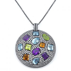 Multicolor Gemstone Pendant